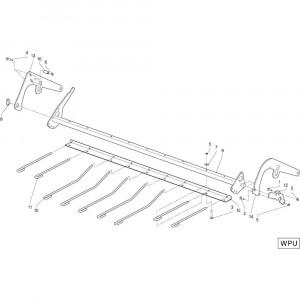31 Cilinder Wpu opraper passend voor DEUTZ-FAHR RB4.60 BalePack