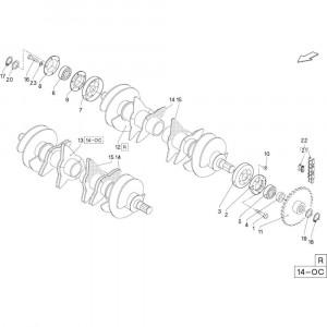 34 Meetwielen R+Oc opraper passend voor DEUTZ-FAHR RB4.60 BalePack