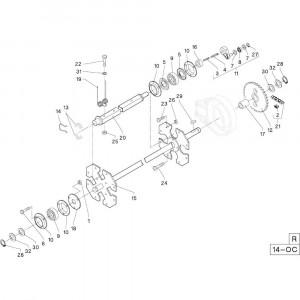37 Frame opraper passend voor DEUTZ-FAHR RB4.60 BalePack