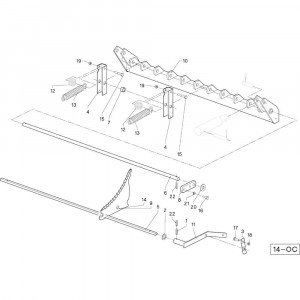 40 Cilinder Oc opraper passend voor DEUTZ-FAHR RB4.60 BalePack