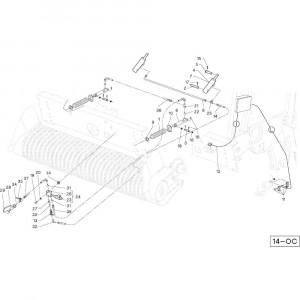 41 Cilinder opraper passend voor DEUTZ-FAHR RB4.60 BalePack