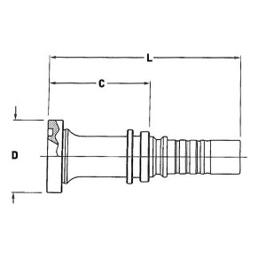 Perspilaar AQFSCH-1W SAE flens 6000 PSI | SAE 6000 PSI