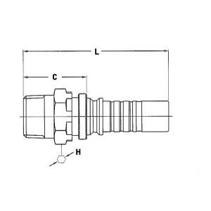Perspilaar AQGNH-1W NPT uitwendig | D.m.v. dichtring