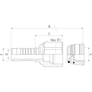 Koppeling female Typ 817