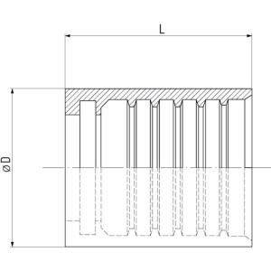 Pershuls 1SC roestvast staal