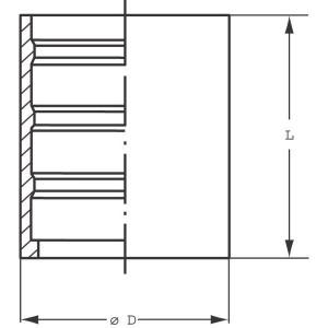 Pershuls voor Teflon/RVS slang 2 inlagen | Roestvast staal AISI 316L
