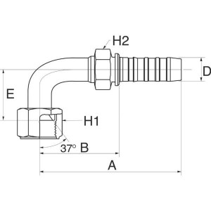 Perspilaar met wartel 90° FJX90S lage bocht