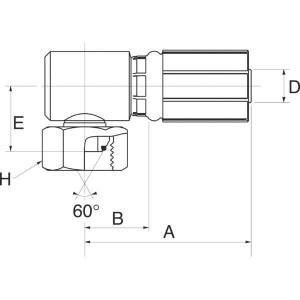 Perspilaar met wartel 90° knie FBSPORX90BL
