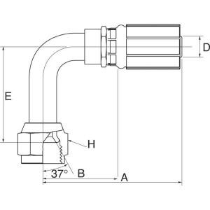 Perspilaar met wartel 90° FJX90S hoge bocht