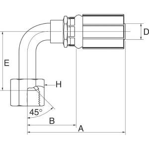 Perspilaar met wartel 90° FSX45