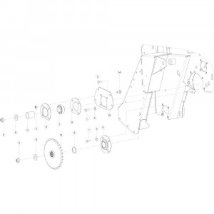 17 Aandrijfketting rechts passend voor KUHN VB2260