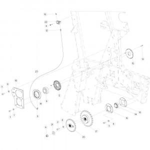 17 Aandrijfketting rechts passend voor KUHN VB 2265