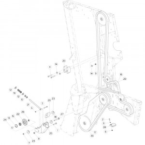 21 Kettingspanner passend voor KUHN VB 2265