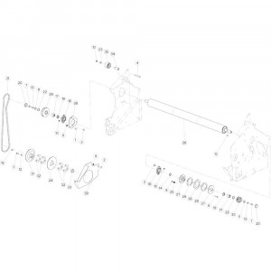 28 Netwikkelset aandrijving passend voor KUHN VB2285