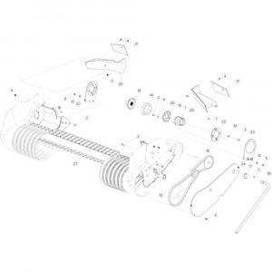 38 Aandrijving Optiflow passend voor KUHN VB2285