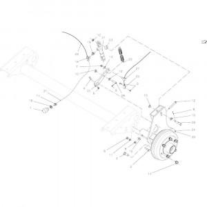 06 Hydraulische rem passend voor KUHN VB 2290