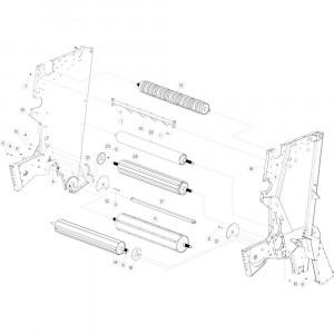 15 Rol centraal frame passend voor KUHN VB 2290