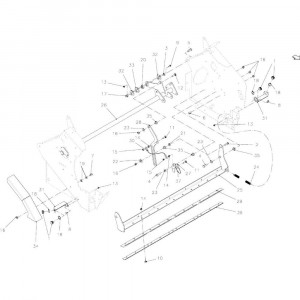 34 Netwikkelset geleiding passend voor KUHN VB 2290