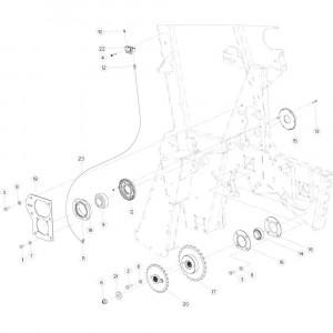 17 Aandrijfketting rechts passend voor KUHN VB 2295