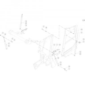 24 Hydraulische achterklep passend voor KUHN VB 2295