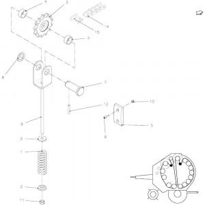25 Spanner, ketting passend voor KUHN FB2121