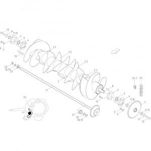 34 Rotor 14-Oc passend voor KUHN FB2121