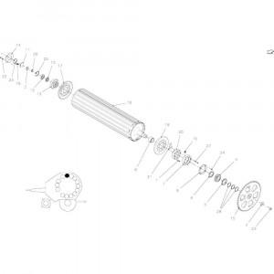 22 Rollen, aandrijving passend voor KUHN FB2135