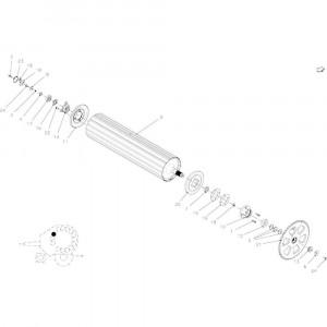 19 Rollen, aandrijving passend voor KUHN FB2135