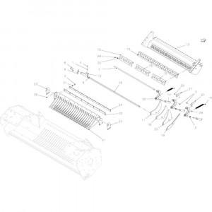 43 Snij-inrichting 23 messen passend voor KUHN FB2135
