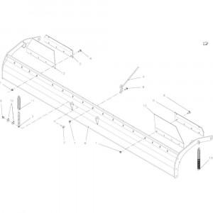 76 Keerplaat 14-Oc passend voor KUHN FB2135