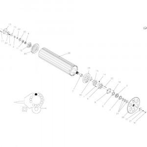 23 Rollen, aandrijving passend voor KUHN FB2135