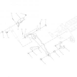 77 Zwenkeenheid, compleet 14-Oc passend voor KUHN FB2135