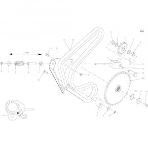 95 Spanner, ketting rotor passend voor KUHN FB2135