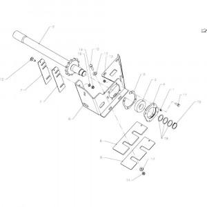 03 Aandrijfas passend voor KUHN FB2135