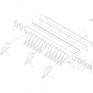 36 Schrapermodule 14-Oc passend voor KUHN FB2135