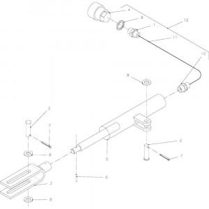 12 Hydraulische rem passend voor KUHN FB2135