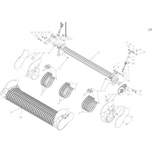 31 Oprapermodule passend voor KUHN FB2135
