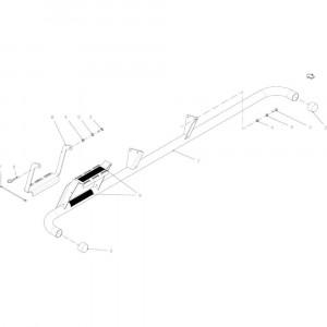 50 Rail, bescherming passend voor KUHN FB2135