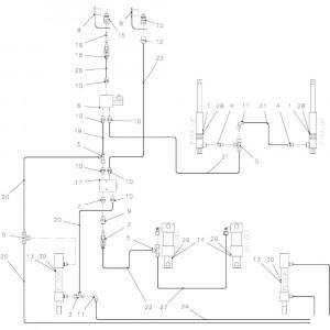 59 Opraper hydraulisch systeem 23-Oc passend voor KUHN FB2135