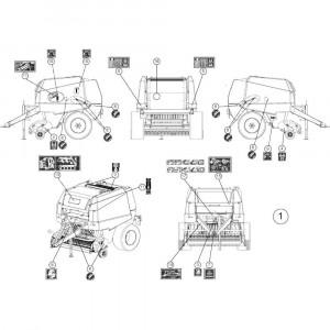 71 Instructiestickers, set passend voor KUHN FB2135