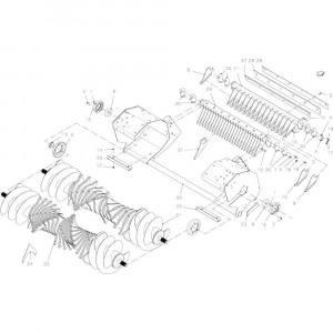 33 Rotor passend voor KUHN FB2135