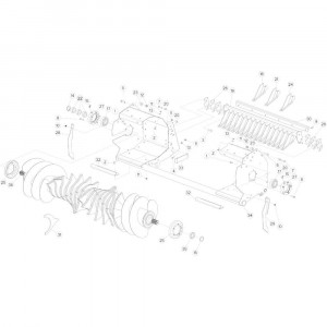28 Rotor 14-0C passend voor KUHN FB3130