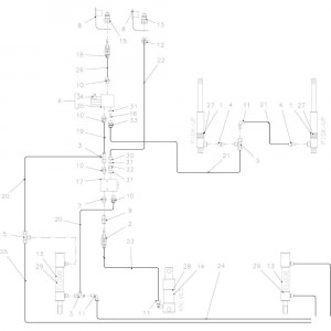 38 Hydraulisch 14-0C passend voor KUHN FB3130