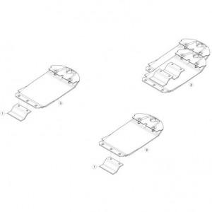 18 Verhoogde glijplaatschoenset passend voor KUHN GMD310F-FF