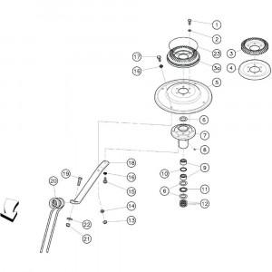 05 Rotor passend voor KUHN GF3701