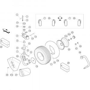 06 Zwenkwielen passend voor KUHN GF3701