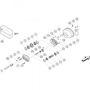 08 Tandwielkast met twee versnellingen, duplex passend voor KUHN GF3701