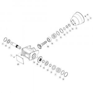 04 Centrale tandwielkast passend voor KUHN GF5202