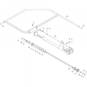 15 Buitenwing, links passend voor KUHN GF5202