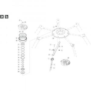 19 Rotor, rechtsdraaiend passend voor KUHN GF5202